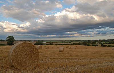 Looking south-east towards The Fens from near South Greetwell church