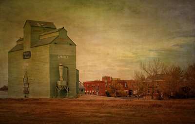 Husted Farms grain elevator ...former Alberta Wheat Pool Elevator at Stavely