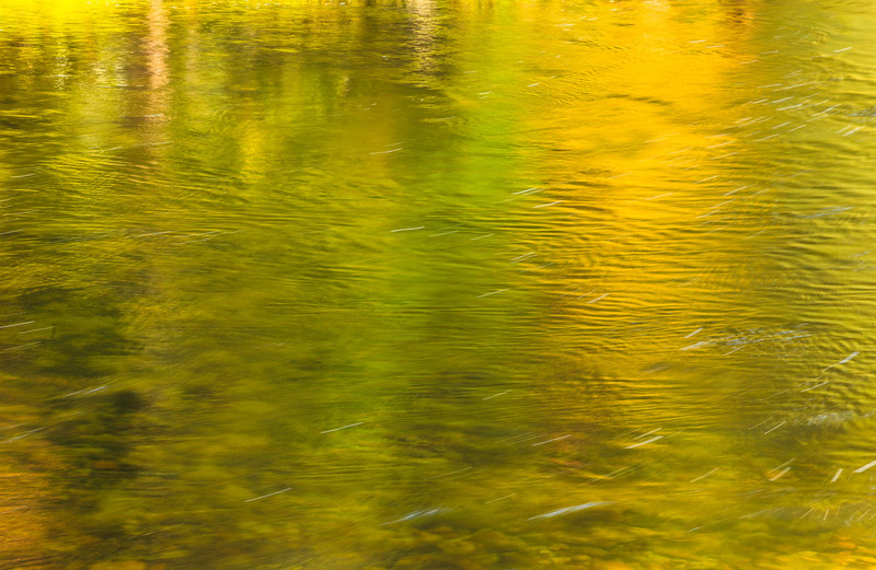 """Fall Greens and Yellows in the Merced ""  Reflections of Fall Colors in the Merced River in Yosemite National Park.  i love capturing the colors in Yosemite reflected along the river. From yellow, green, brown you see ripples and patterns as the water swirls in Yosemite.  This makes for a soothing backdrop to your environment.  It is only better being in Yosemite in person.   This is another one of my Monet types images from Yosemite."