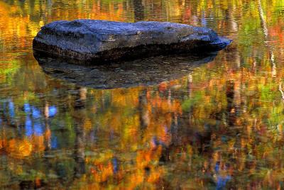 abs10: Ozark stream in autumn, by Bill