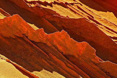abs14: Phyllis's image of a backlit sandstone fin in the South Coyote Buttes, Vermilion Cliffs National Monument, Arizona