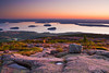 Maine, Acadia National Park, Coastline , Cadillac mountain, Porcupine  islands,  Sunrise, Landscape, 缅因, 阿卡迪亚国家公园 秋色 风景