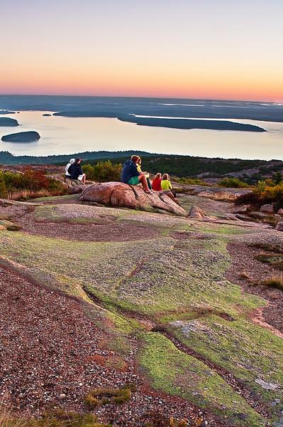 Maine, Acadia National Park, Coastline , Cadillac mountain,  Sunrise, Landscape, 缅因, 阿卡迪亚国家公园 海岸 风景