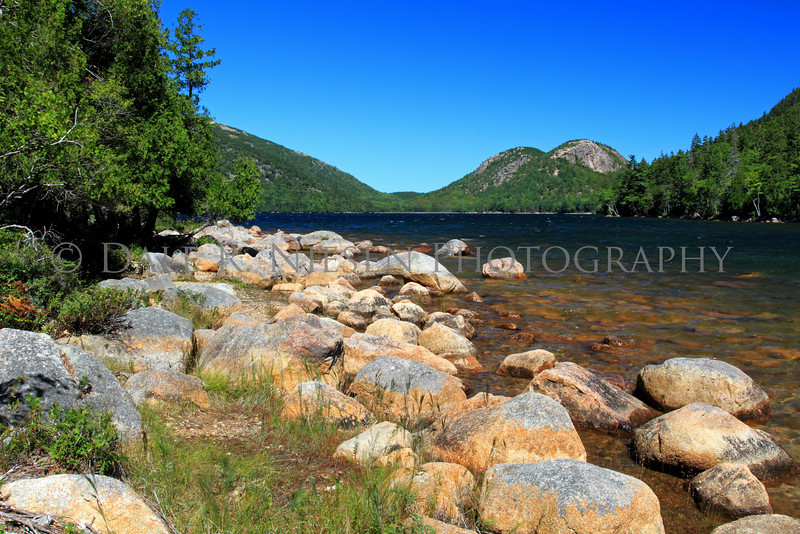 The Bubble Mountains from Jordan Pond, Acadia National Park, Maine