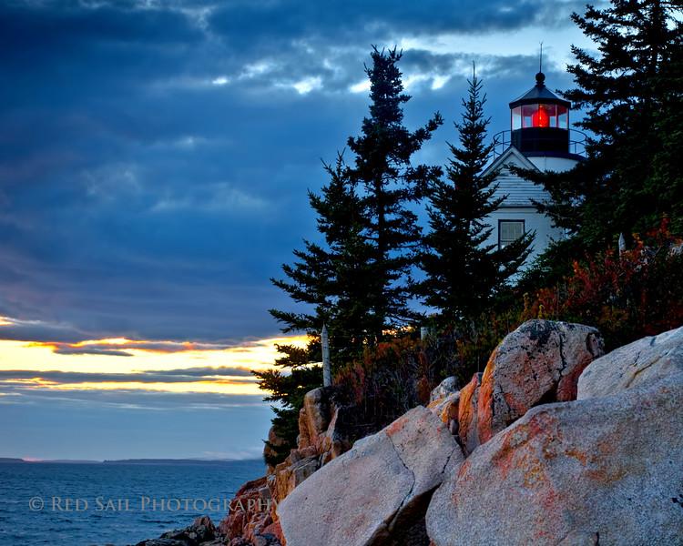 Evening at Bass Harbor Light