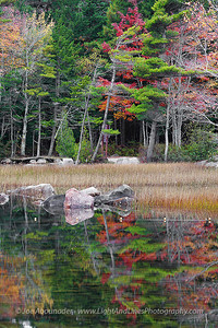 Eagle Lake Reflections.  October 2011.
