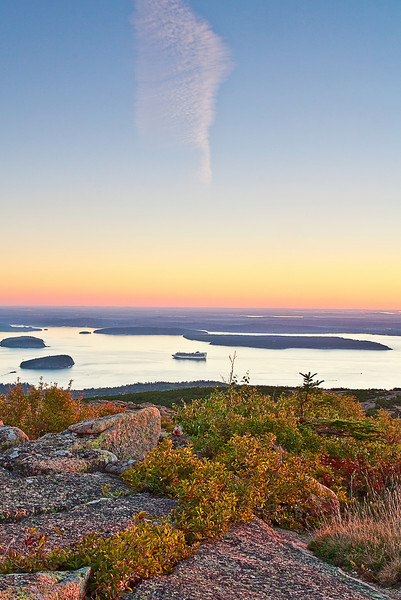 Maine, Acadia National Park, Coastline , Cadillac mountain, Fall Colors, Sunrise, Landscape, 缅因, 阿卡迪亚国家公园 海岸 风景