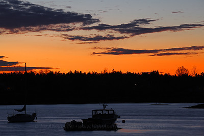 Sunset in Bass Harbor.  October 2011.  Bass Harbor.