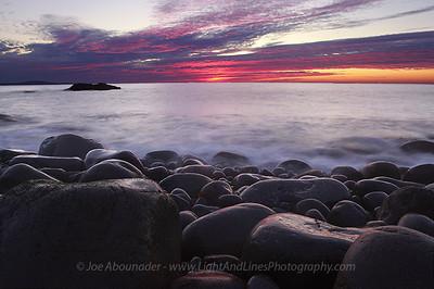 Dawn Cobblestones.  October 2011.  Otter Cliffs.