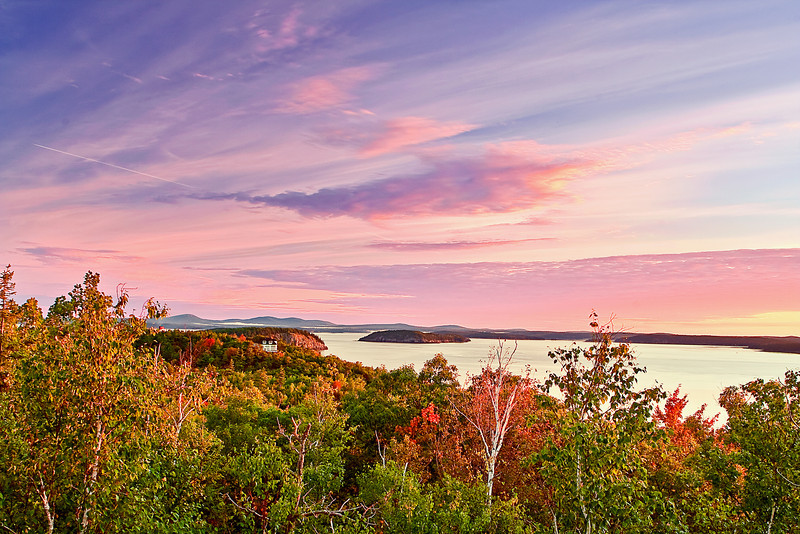 Maine, Acadia National Park, Park Loop Road, Sunrise, Landscap, 缅因, 阿卡迪亚国家公园 秋色 海岸 风景