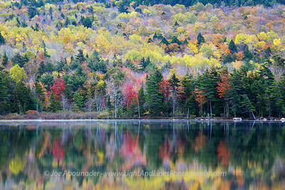 Colour on Glass.  October 2011.  Eagle Lake, Maine.