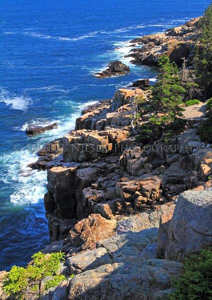 The rocky Maine coast Acadia National Park, Maine.
