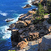The rocky Maine coast Acadia National Park, Maine.