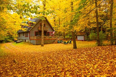 Adirondack; Fall Colors; Lack Placid; New York; Saranac River; 普莱西德湖; 秋色; 纽约州; 阿迪那达克