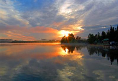 Early sunrise on Raquete Lk. # 6
