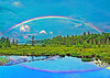 A RAINBOW OVER RAQUETTE LAKE, IN N.Y.
