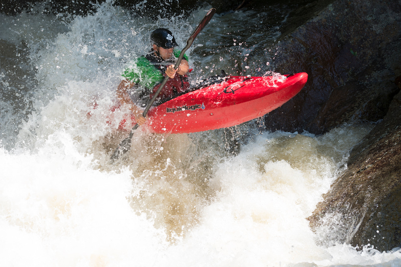 September 2 - Look, Up in the Sky, It's a bird, It's a plane, No it's.....<br /> <br /> Whitewater Kayaking on the Beaver River in the western Adirondacks.