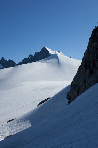 Climbing to base camp on Mount Challenger