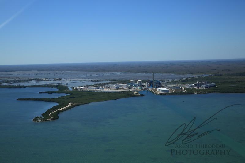 Aerial shot of Turkey Point