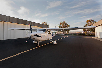 Cessna 182 used for these aerials