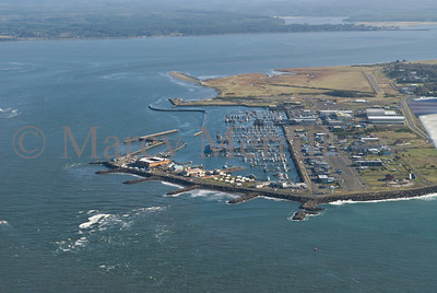 Westport, WA marina from the air.