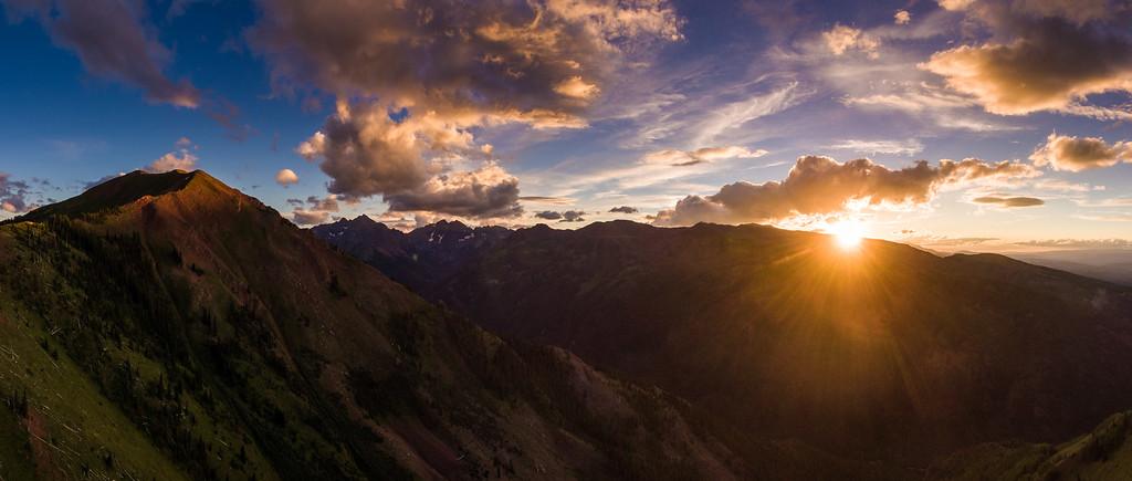 Aspen Highlands sunset