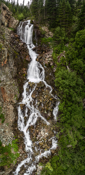 Castle creek Falls Aerial pano