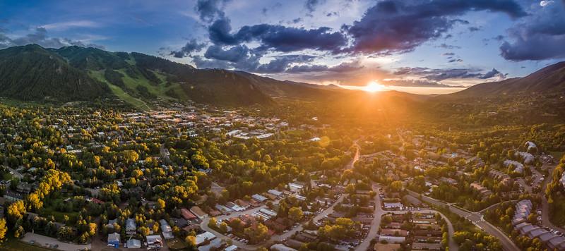 Aspen Colorado sunset