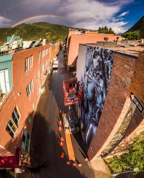 Street art in Aspen