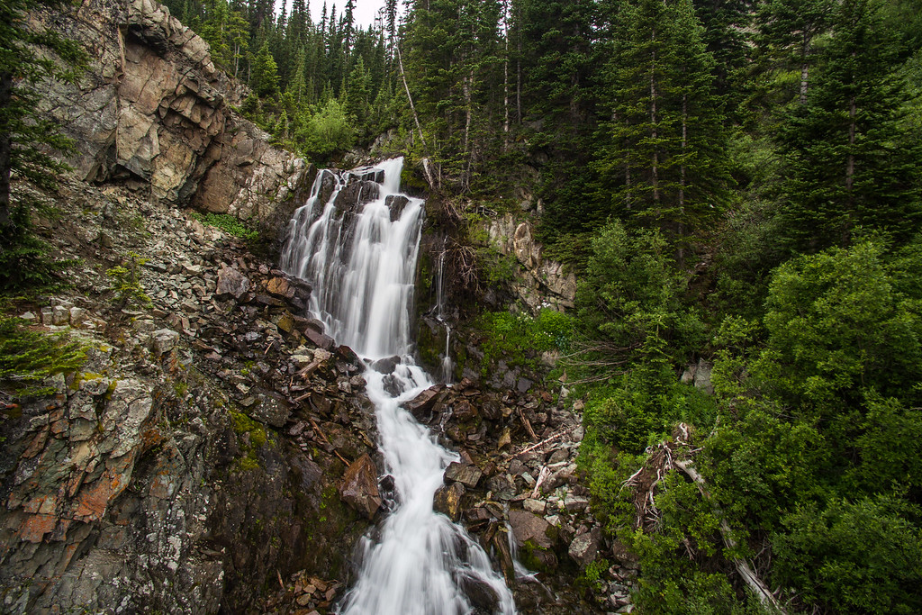 Castle creek Falls Aerial