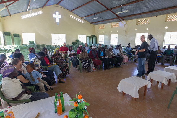 Morning devotional service for Kipkaren area widows. Mark shared some thoughts about hope.
