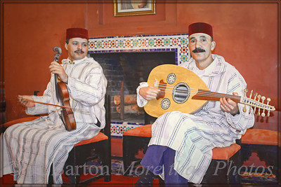 Musicians at dinner in Tangier