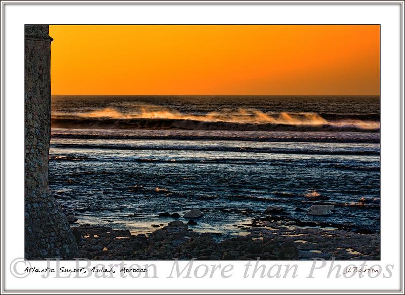 Atlantic Sunset Asilah, Morocco