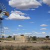 Kgalagadi Transfrontier Park: Windmill with gemsbok