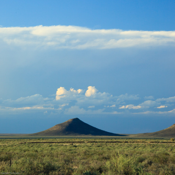Karoo koppie with clouds, Kambro farm
