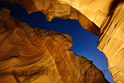 Night Sky at Antelope Canyon