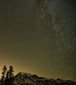 Mt Rainier after Dark, Mt Rainier National Park