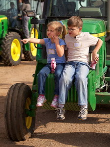 Young attendees at an agricultural field day.