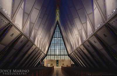Inside the Air Force Academy Chapel in Colorado Springs, CO, DSC_0504.
