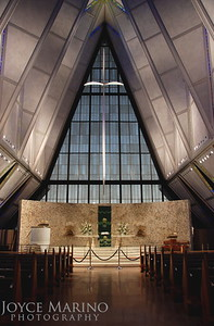 Inside the Air Force Academy Chapel in Colorado Springs, CO, DSC_0506.