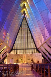 Inside the Air Force Academy Chapel in Colorado Springs, CO - DSC_1720