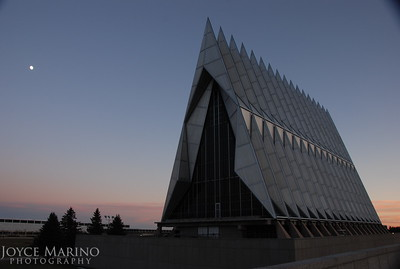 Air Force Academy Chapel in Colorado Springs at sunset, DSC_0557
