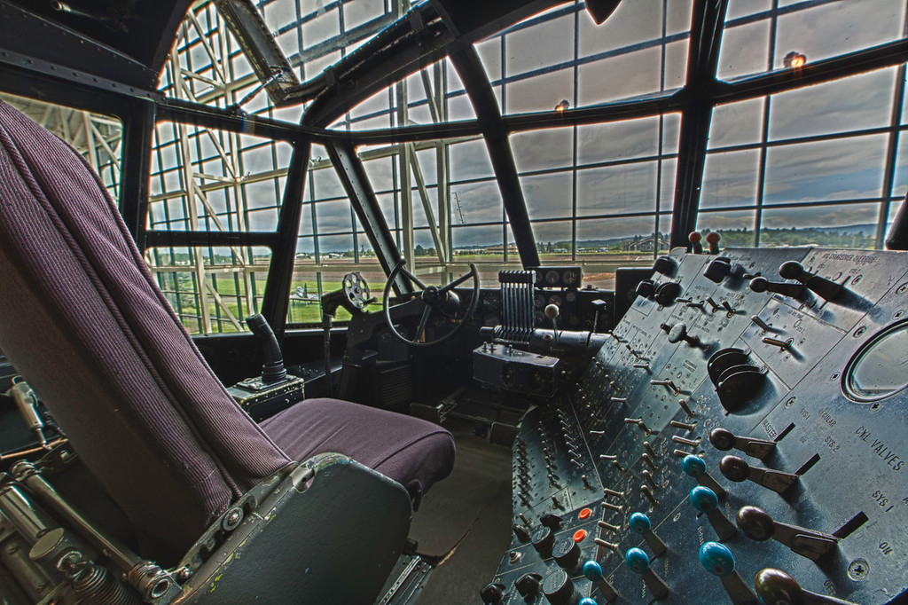 Spruce Goose Cockpit - Howard sat here!