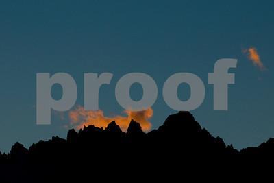 Sunset Cloud over Mt. Whitney, Alabama Hills, Lone Pine, California