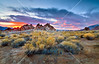Sunrise at the Alabama Hills near Lone Pine, California