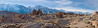 Panoramic view of the Alabama Hills