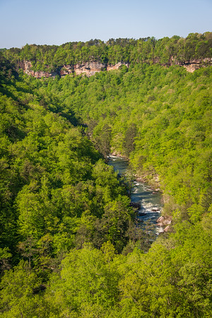 The Rapids and Cliffs at Little River Canyon National Preserve