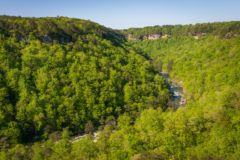 Curved River Overlook at Little River Canyon National Preserve