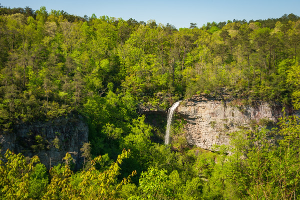 Waterfall in the Forest at Little River Canyon National Preserve