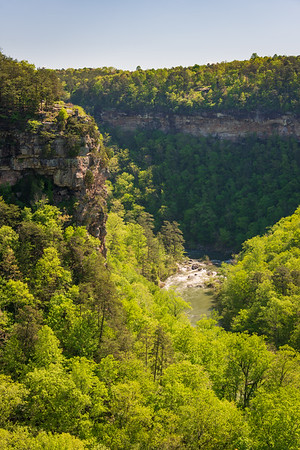 Rapids and Cliffs at Little River Canyon National Preserve